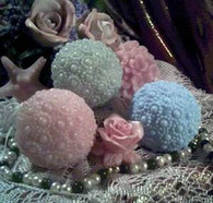 Silicone Small Pearl Ball Soap Candle Mold NEW