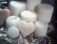Silicone Pearl Pillar Candle Mold   Open Top