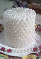 Silicone Pearl Pillar Candle Mold #7