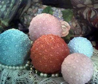 Silicone Medium Pearl Ball Soap Candle Mold NEW