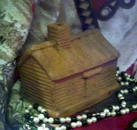 Silicone Log Cabin Soap Candle Mold Large