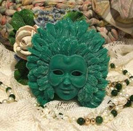Silicone Madri Gras Feather Mask Soap Candle Mold