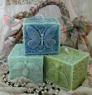 Silicone Butterfly Square Pillar Candle Mold