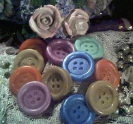 Silicone Button Soap Candle Tart Mold 6 Cavity