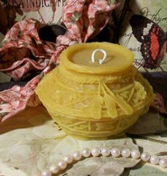 Silicone Southwestern Indian Pot With Feathers Candle Mold