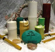 """Silicone Bamboo Design Spa Series Candle Mold 7"""" Tall"""