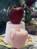 Silicone Apple With Leaf Candle Soap Mold