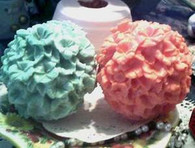 Silicone  Flower Ball Candle Mold Raised