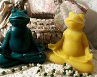 Silicone Zen Frog Lotus Position Candle Mold