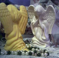 Kneeling Praying Angel Soap Candle Mold