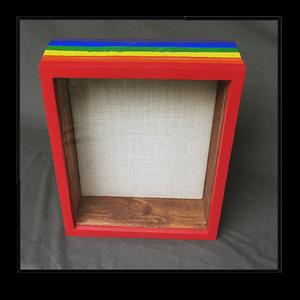"Shadow Box - PRIDE Artisan Rustic  11"" W x 14"" H x 3"" D"