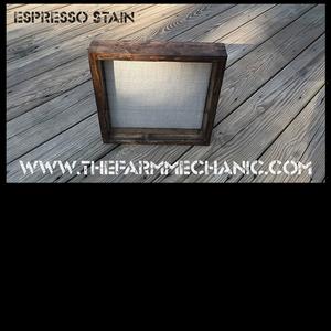 """Shadow Box - Artisan Rustic -12""""W x 12""""H x 1""""D Espresso"""