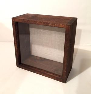 """Shadow Box - Artisan Rustic -12""""W x 12""""H x 3""""D Espresso"""