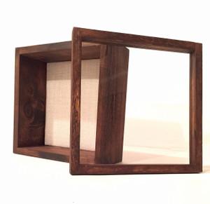 """Shadow Box - Artisan Rustic -12""""W x 12""""H x 4""""D Espresso"""