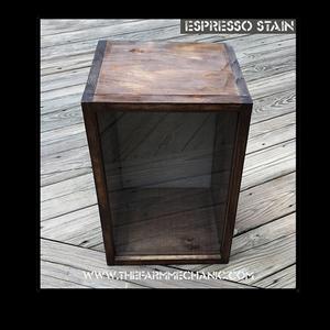 """Shadow Box - Artisan Rustic -10""""W x 15""""H x 10""""D Espresso"""