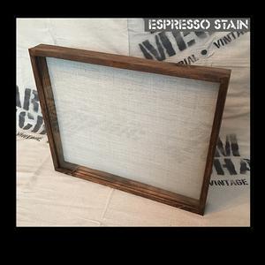 """Shadow Box - Artisan Rustic -16""""W x 16""""H x 1""""D Espresso"""