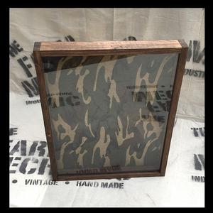 "Military Shadow Box - Artisan Rustic -16""W x 20""H x 1""D Espresso"