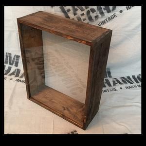 """Shadow Box - Artisan Rustic -14""""W x 16""""H x 7""""D Espresso"""