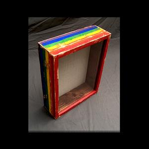 "Shadow Box - Distressed PRIDE Artisan Rustic  - 11"" W x 14"" H x 3"" D"