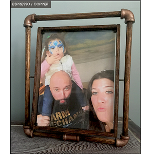 "Artisan Industrial Rustic Picture Frame  (8""W x 10""H Photo)"