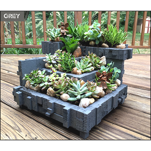Architectural Multi-Tiered Rustic Planter