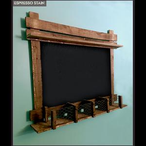 Artisan Industrial Rustic Blackboard Baby Wall Organizer