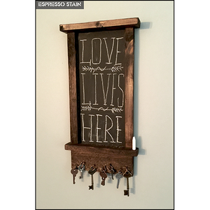 Artisan Rustic Magnetic Key Holder with Chalkboard
