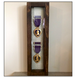 Purple Heart Medal Display Case, Military Medal Shadow Box | The Farm Mechanic
