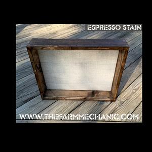 """Shadow Box - Artisan Rustic -204"""" W x 24"""" H x 3"""" D Espresso"""