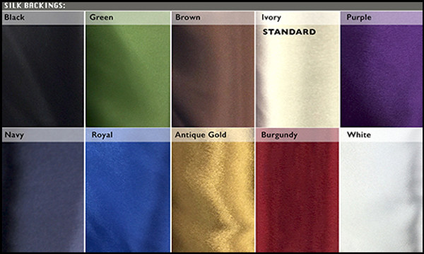 Satin Backing Color Options - The Farm Mechanic