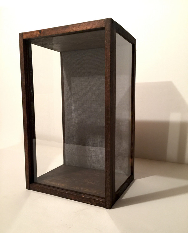 "Artisan Rustic Glass Display Case - 11"" W x 19"" H x 8"" D"