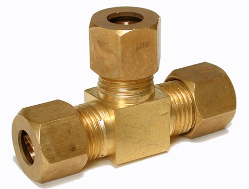 "1/4"" Brass Compression Tee 93975"