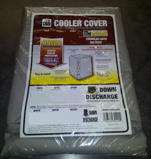 34 X 34 X 40 Swamp Cooler Cover Downdraft Polyester