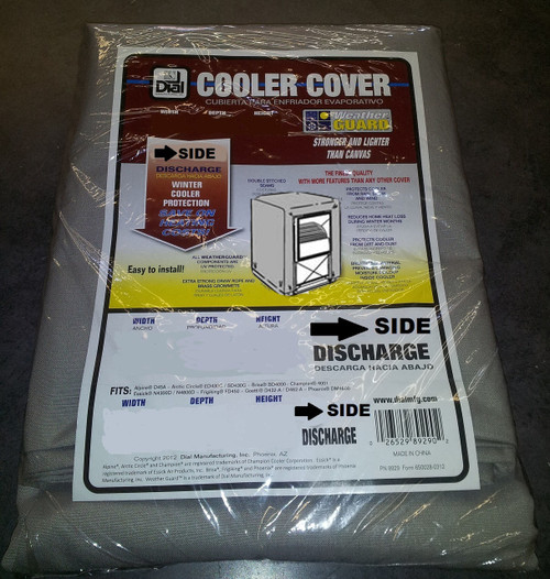 22X22X27 Swamp Cooler Cover Sidedraft Polyester