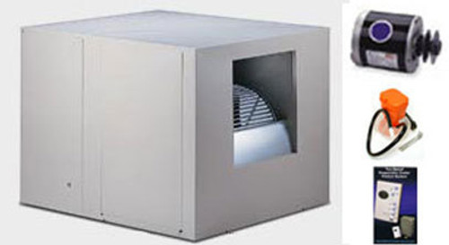 """Evaporative Cooler Complete System Bundle - 6800 CFM Sidedraft 12"""" Pads - Aerocool Trophy TH6812C - FREE SHIPPING"""