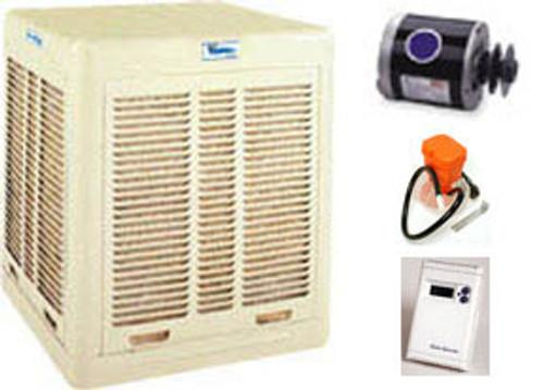Evaporative Cooler Complete System Bundle - 6500 CFM Downdraft Aspen  - FREE SHIPPING