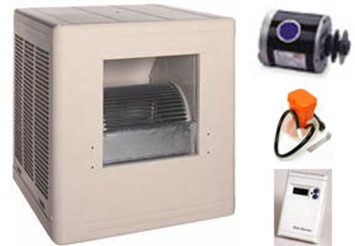 Evaporative Cooler Complete System Bundle - 6500 CFM Sidedraft Aspen - FREE SHIPPING