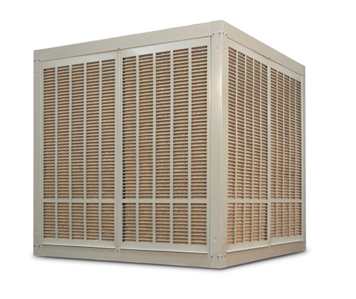 10,000 CFM Downdraft Industrial Evaporative Cooler - Aspen Pads