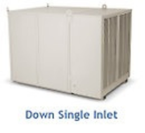 "10000 CFM Downdraft Industrial Evaporative Cooler - 8"" Pads"