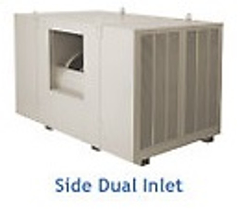 "25000 CFM Sidedraft Industrial Evaporative Cooler - 12"" Pads"