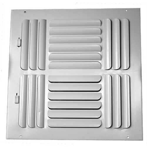 12 X 12 Air Return Grille Stamped Face No Filter Frame