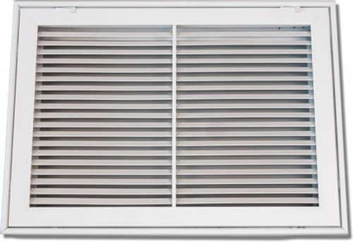 25X20 Air Return Filter Grille Bar Face White PSFBGW2520