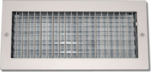 20 X 20 Air Register Adjustable Bar Face Vent White PSAASW2020