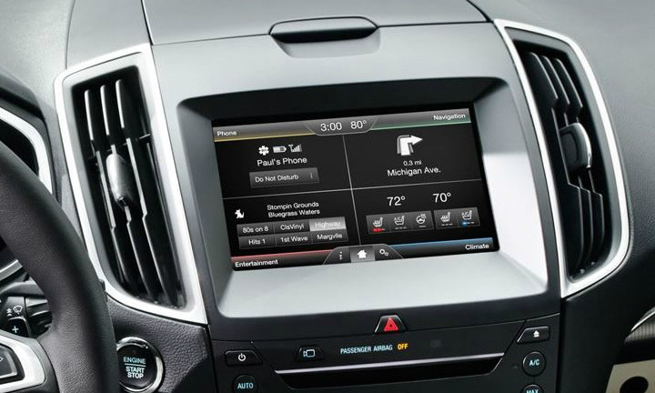 Ford Edge Navigation Kit For Myford Touch Systems Installed View