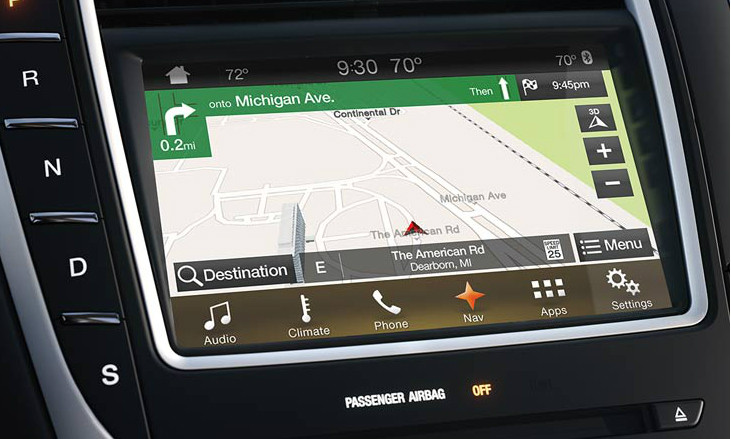 2016 Lincoln Mkx Navigation Kit For Sync 3 Installed View