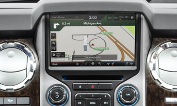 2013 2014 2015 2016 Ford F-250 | F-350 Navigation Kit for MyFord Touch Systems - Installed View