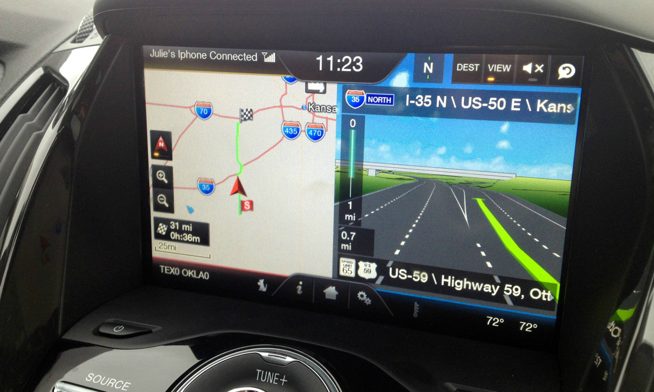 how to get navigation on myford touch