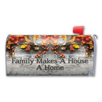 Family Makes A House A Home (Fall) Mailbox Cover Magnet