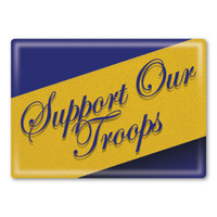 Support Our Troops Rectangle Button