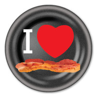 I Love Bacon Circle Button